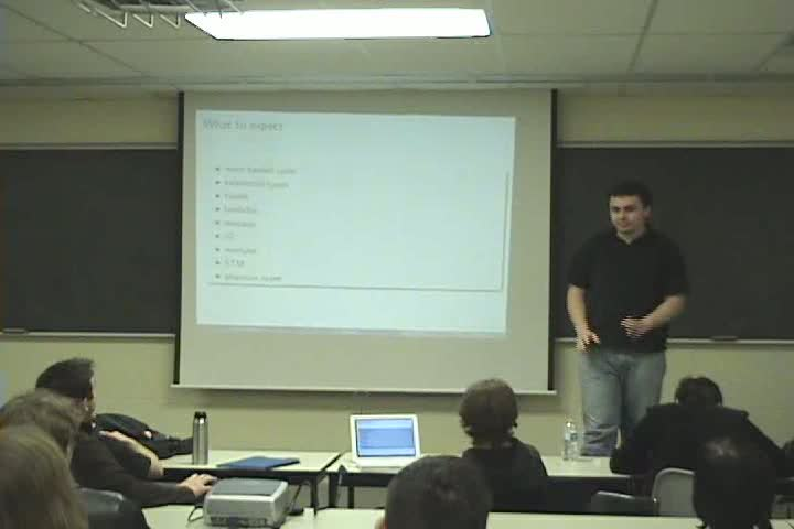 Thumbnail of tech talk by Andrei Barbu: More Haskell functional programming fun