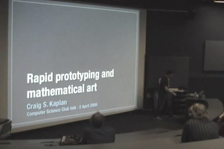 Thumbnail of tech talk by Dr. Craig Kaplan: Rapid Prototyping and Mathematical Art