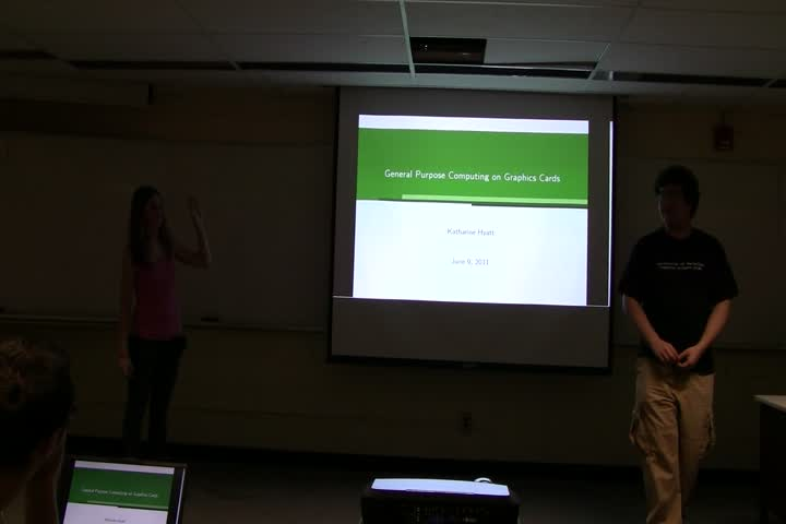 Thumbnail of tech talk by Katie Hyatt: General Purpose Computing on Graphics Cards