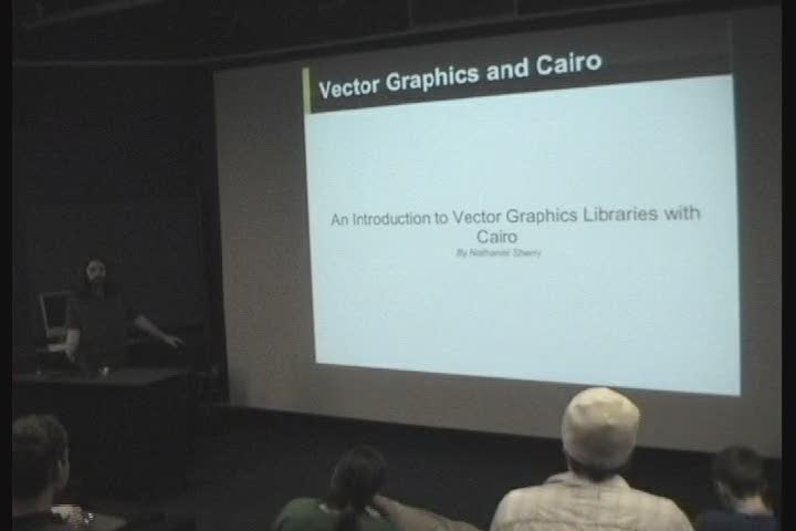 Thumbnail of tech talk by Nathaniel Sherry: An Introduction to Vector Graphics Libraries with Cairo