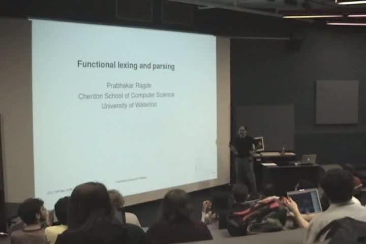 Thumbnail of tech talk by Dr. Prabhakar Ragde: Functional Lexing and Parsing
