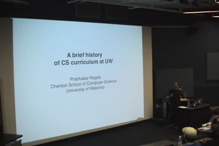 Thumbnail of tech talk by Prabhakar Ragde: A brief history of CS curriculum at UW