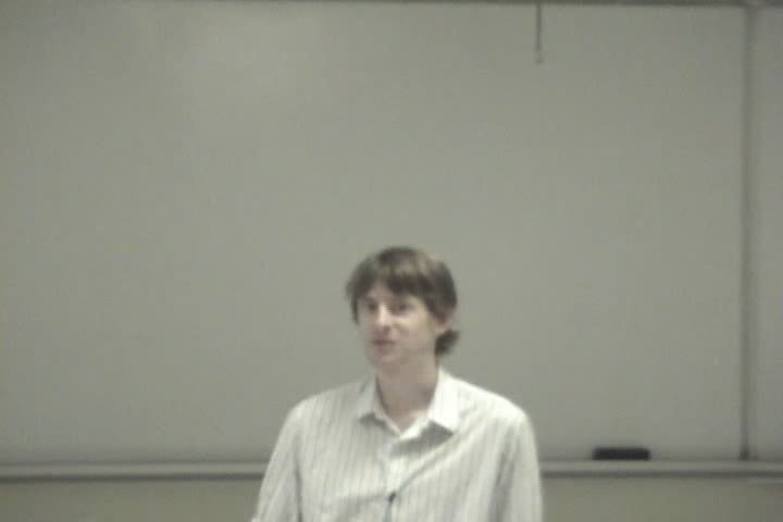 Thumbnail of tech talk by Simon Woodside: Semacode - Image recognition on mobile camera phones